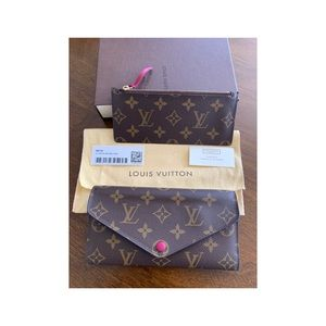 Authentic LV  Monogram Canvas Josephine Wallet
